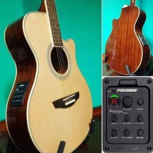 Oferta!!! guitarras minijumbo caoba nuevas ecu fishman!!!