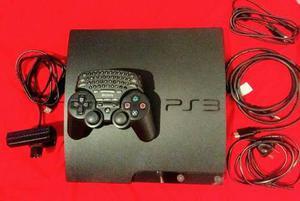 Playstation ps3 160gb +1 joystick con teclado+cam+2 juegos