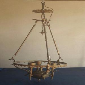 Antigua araña lámpara colgante 3 luces