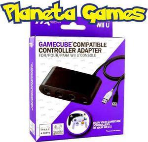 Gamecube controller adapter ttx nintendo wii u caja cerrada