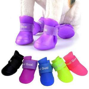 Bota de lluvia zapatilla zapato para perros gatos silicona