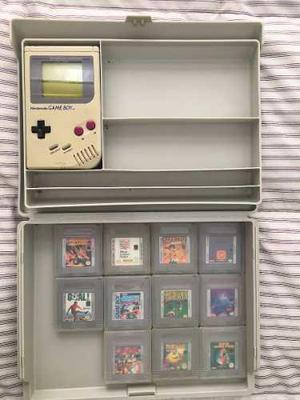 Game boy classic + 11 juegos+ tupper