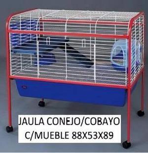 Jaula cobayo conejera cobayera completa con pie petshop beto