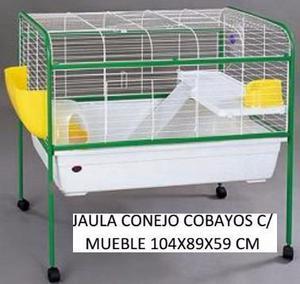 Jaula cobayo conejera cobayera grande con pie petshop beto