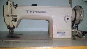 Maquina de coser recta industrial doble arrastre