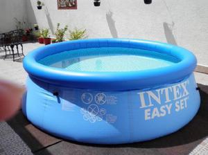 Pileta intex easy set con inflador de pie y bomba filtro