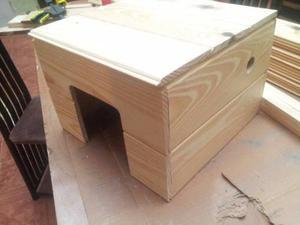 Refugio casita para cobayo, hamsters, erizo, roedores, etc.