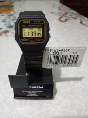 Reloj casio f-91wg. original 100% !!!! nuevos