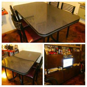 Comedor mesa sillas modular anuncios septiembre clasf for Comedor 6 sillas usado