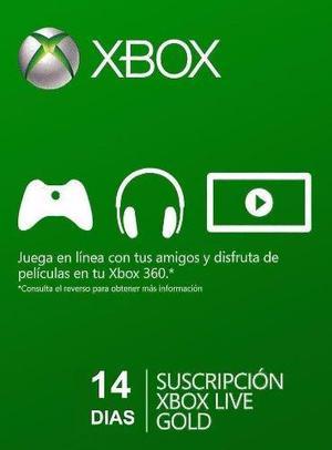 Xbox live gold 14 días membresia -usa- key #argencards
