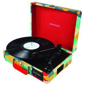 Bandeja tocadiscos bluetooth usb lp 33, 45 y 78 rpm sistema