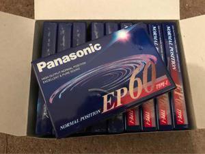 Lote x 10 cassette panasonic ep60 nuevos