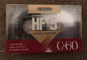 Lote x 8 cassettes crown hf-5 nuevos