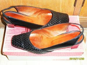 Zapato cuero negro