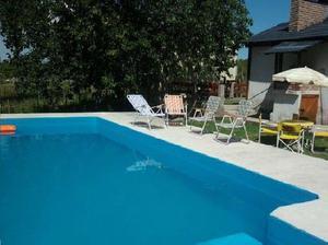 Enero 21 al 27 chalet quincho piscina 2500 m2 de parque