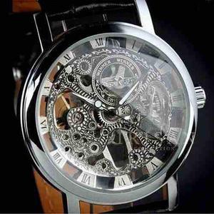 Reloj clásico a cuerda mas colores malla cuero exc calidad