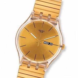 Reloj swatch suok702b dazzling light elastizado 30m wr