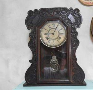Antiguo reloj de pared ansonia péndulo f