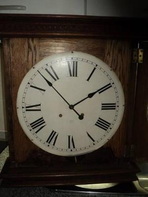 Antiguo reloj pared pendulo the ansonia clock usa estacion