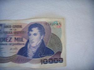 Billete de argentina - 10000 $a - serie a 10 australes