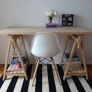 Mesa con caballetes fijos mesa macisa mesa escritorio!!!!