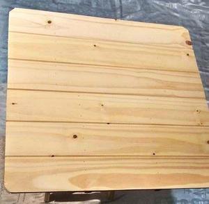 Mesa de madera plegable matera cuadrada