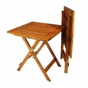 Mesa plegable de madera barnizada en cetol apta exterior bar