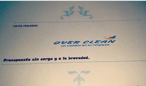 Over clean, empresa de limpieza