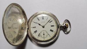 Reloj bolsillo longines 3 tapas plata buen estado funciona