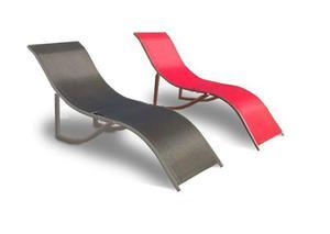 Reposera aluminio plegable premiun color rojo camastro