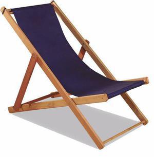 Reposera de madera plegable silla playera lona gruesa playa