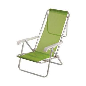 Reposera reclinable sannet 7/8 mor verde aluminio tio musa