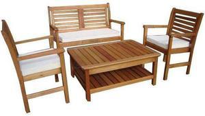 Set living o juego de jardín de madera uso exterior