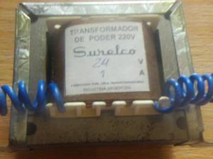 Transfo de alimentacion 220 vca a 24 vca 1 ampere audiomax