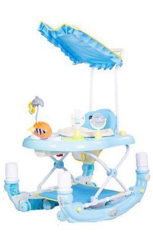 Andador mecedor disney bebé musical 3 posiciones toldo piso