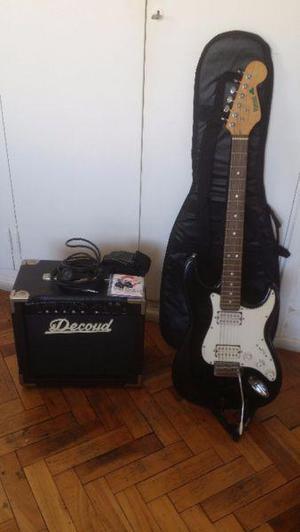 Guitarra electrica shamrock amplificador 20w accesorios
