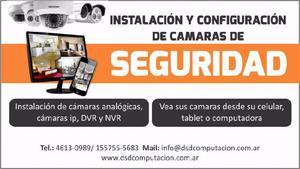 Instalacion y configuración sistemas de cámaras vigilancia