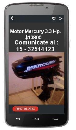 Mercury 3.3 hp * excelente estado $ 13800