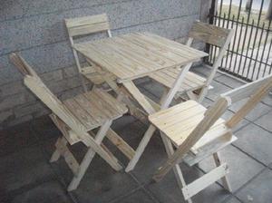 Mesas y sillas plegables mauri superoferta!!! 11-6782-2191