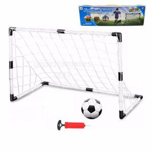 Mini arco de futbol 92 x 61 + pelota + inflador juguete