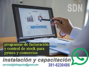Instalación y capacitación en software de facturación
