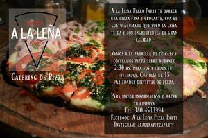 Catering de pizzas libre para todo tipo de eventos. a la