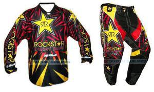 Conjunto motocross pantalon y buzo rockstar gama s m l