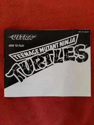 Tortugas ninjas manual nes - nintendo