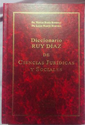 Diccionario ruy díaz de ciencias jurídicas y sociales
