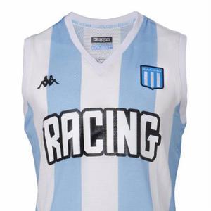 Camiseta racing basquet oficial kappa 2018-dxt-caballito