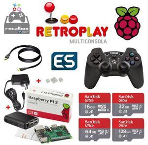 Consola Retro Arcade 32gb Recalbox 10000 Roms 2 Joy