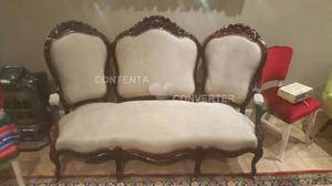 Importante sillón colonial luis xvi