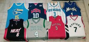 Lote de camisetas nba basquet/basket.