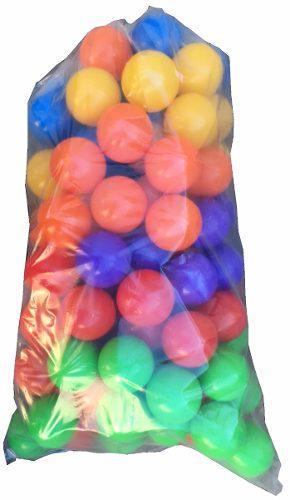 Pelotitas de plastico virgen para pelotero 100 u en smile